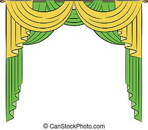 The vintage curtain.