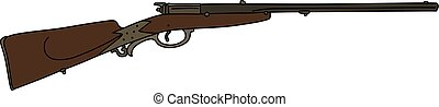 The vintage hunting rifle