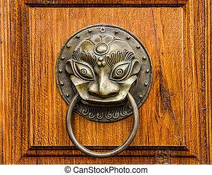 The Vintage knocker of dragon
