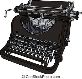 The vintage mechanical typewriter