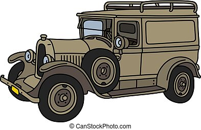 The vintage military car