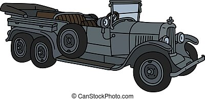The vintage military open car