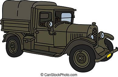 The vintage military truck