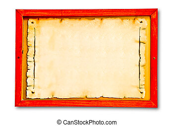 The Vintage of wooden frame on wood background