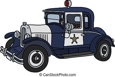 The vintage police car