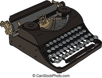 The vintage portable typewriter