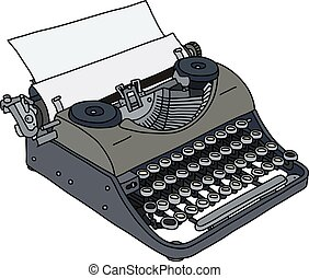 The vintage portable typewriter