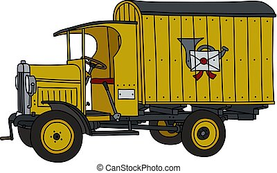 The vintage post truck