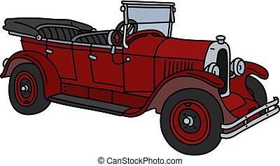 The vintage red cabriolet
