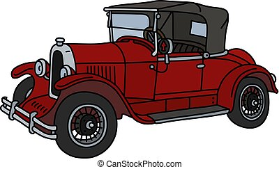 The vintage red roadster
