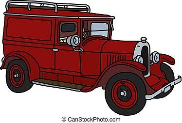 The vintage red van