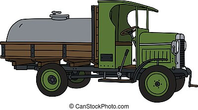 The vintage tank truck