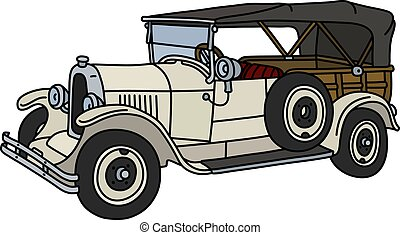 The vintage white convertible