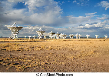 An Early evening shot at the VLA