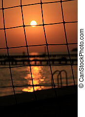 the volly sunset