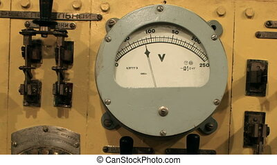 voltmeter on the instrument panel