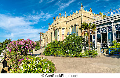 The Vorontsov Palace in Alupka, Crimea - The Vorontsov...