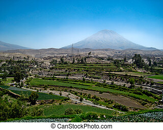 The Vulcan Misti in Peru, near by Arequipa