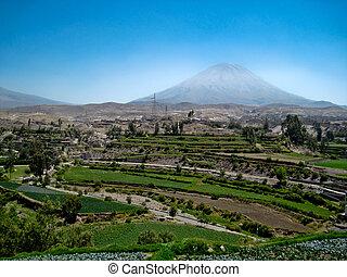 The Vulcan Misti in Peru, near by Arequipa