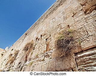 The wailing wall in Jerusalem city, Israel