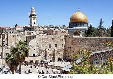 The wailing wall of Jerusalem