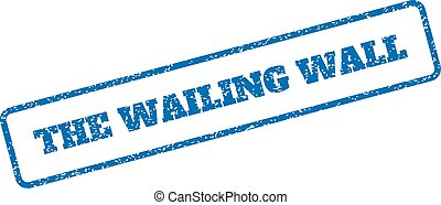 The Wailing Wall Rubber Stamp