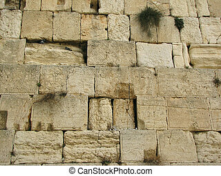 the wailing western wall, jerusalem, israel...