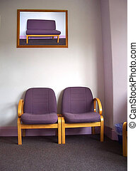 Dentist's waiting room, the picture in the frame has been replced with a picture from teh series that I took