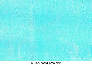 The wall is painted blue. Background with stains and stains.