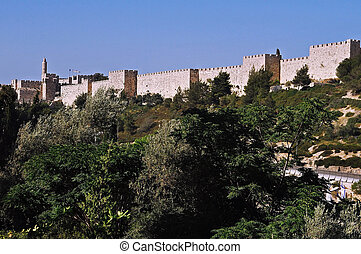 The wall of Jerusalem Israel