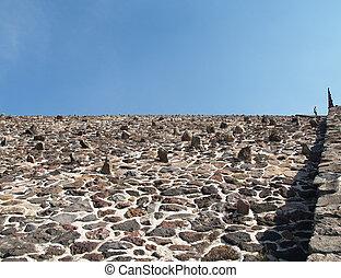 The wall of pyramid
