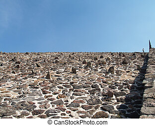 The wall of pyramid