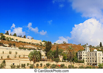 The Wall of the Old City of Jerusalem, Israel