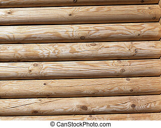 The wall of the timber.