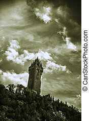 The Wallace Monument in Scotland - Shot of the Wallace ...