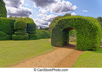 The walled Monks Garden at Highclere Castle, better known as the location for Downton Abbey - Berkshire, United Kingdom