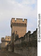 The walls around city of Avignon