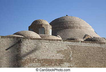 The walls of Bukara, Uzbekistan