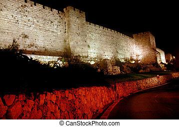 The walls of Jerusalem Old City