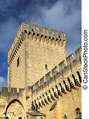 The walls of Papal Palace, Avignon