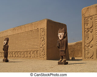 The walls of the desert - The walls of the Tschudi Palace at...