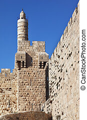 Tower of David on a sunny day