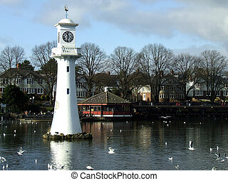 The Walter Scott Memorial Lighthouse at Roath Park, Cardiff