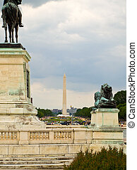 The Washington Monument as seen from the US Capital Building
