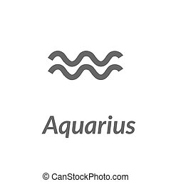 The Water-Bearer aquarius sing. Star constellation element....