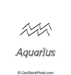 The Water-Bearer aquarius sing. Star constellation element. Age of aquarius constellation zodiac symbol on light background.