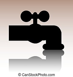 The water faucet icon