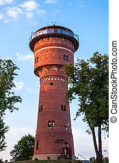 The Water Tower in Gizycko - The Water Tower, Gizycko in the...