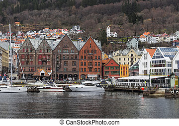 The waterfront in Bergen