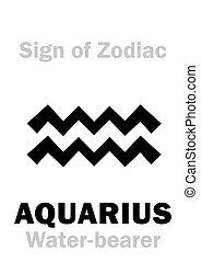 (the, waterman, meldingsbord, astrology:, water-bearer), zodiac